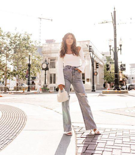 Just having a slight love affair with these jeans 😍 @petalandpup  Use code: 15Kristin at checkout     #LTKstyletip #LTKitbag #LTKshoecrush