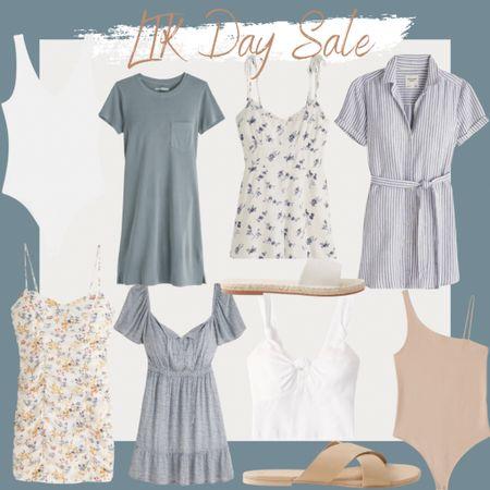 http://liketk.it/3gXQP #liketkit @liketoknow.it #LTKDay #LTKsalealert #LTKstyletip vacation outfit, summer outfit, espadrille sandals, criss cross sandals, seamless bodysuit, ruched mini dress, floral dress, blue dress, summer dress, wedding guest dress, t-shirt dress, mini dress, linen tie strap romper, linen blend shirt dress, seamless asymmetrical camo bodysuit, knot front cutout top