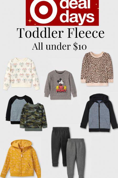 Toddler fleece essential clothing. On sale under $10. Today only!  #LTKsalealert #LTKfamily #LTKkids