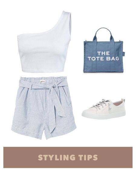 a one shoulder crop top paired with linen blend shorts , white sneakers, and a tote bag makes a cute summer outfit. Shop my daily looks and finds  by following me on the LIKEtoKNOW.it shopping app http://liketk.it/3gMJ6 #liketkit @liketoknow.it #LTKcurves #LTKstyletip #LTKunder100 #LTKunder50 #LTKsalealert #LTKtravel #LTKitbag #LTKshoecrush #LTKworkwear #LTKSeasonal  Amazon fashion   amazon finds   Nordstrom sale   shorts outfit women   summer fashion   summer outfits women   linen shorts   paperbag shorts   beach vacation   Abercrombie   Abercrombie & Fitch   high waisted shorts   tank tops   sneakers for women   Abercrombie shorts   petite style   petite fashion  