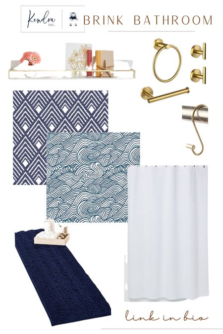 Bathroom Decor for a boy/girl mixed bathroom! Loving this wallpaper and it's so easy to use. Good fixtures and the frames mirror pieces will help to dress the current mirror up to perfection.   http://liketk.it/3jBpU #liketkit @liketoknow.it   #LTKhome #LTKkids #LTKstyletip