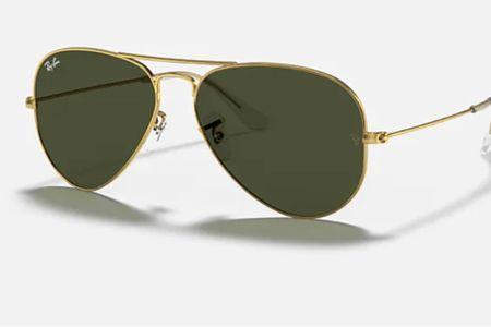 Ray Ban Classic + gold ✨ sunglasses case, sunglasses, aviators   #LTKstyletip
