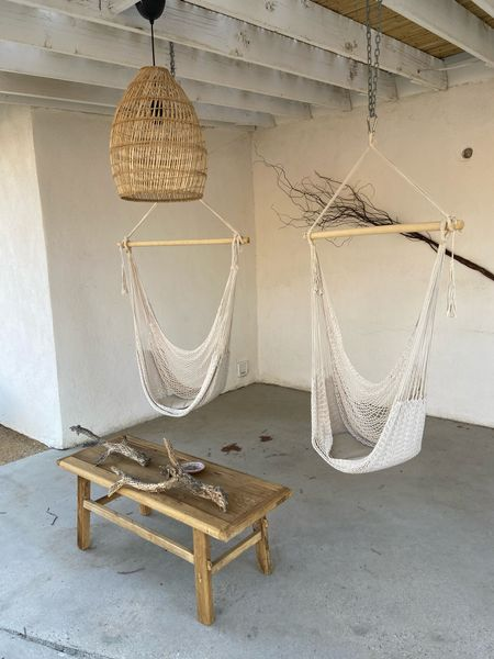 Pendant lighting, hammock swing, outdoor patio, patio furniture, boho decor   #LTKHoliday #LTKfamily #LTKhome