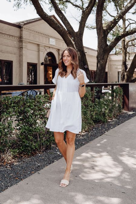 White dress, Target dress, Target style, bump style, Target dresses, Target find, Target outfit   #LTKstyletip #LTKsalealert