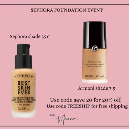 My favorite foundations on sale. Use code save20 for 20% off and code FREESHIP for free shipping. Love both these foundations and their coverage. Also linking my favorite foundation brush.   #LTKSale #LTKsalealert #LTKbeauty
