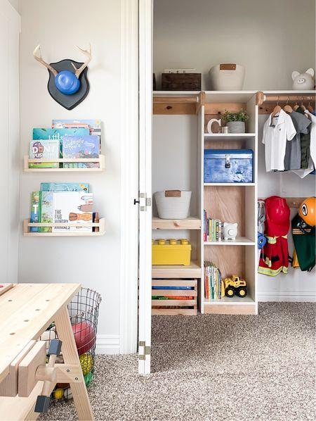 DIY some custom shelves to better utilize your space.   #LTKfamily #LTKhome #LTKkids