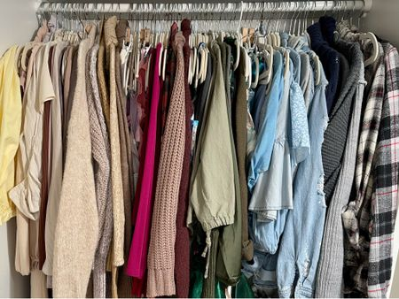 Do you color code your clothes?!   #LTKSeasonal #LTKsalealert #LTKbacktoschool