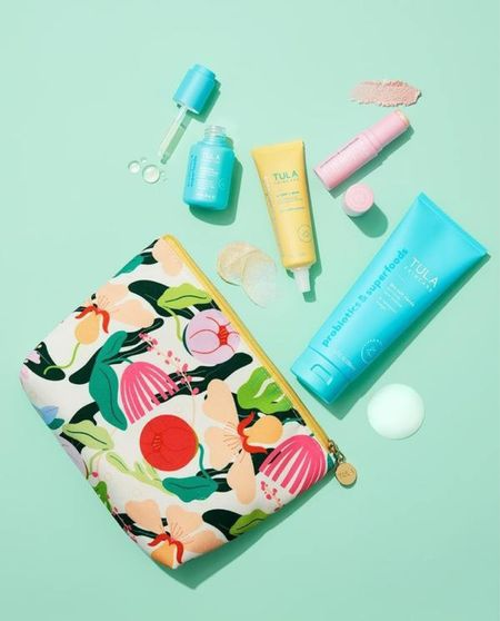 Tula Skincare introduced a new glow kit! I use all of these products DAILY. So excited they come in one kit now. This kit comes with a custom designed bag, cult cleanser, rose glow and get it eye balm, vitamin c serum, and their SPF 30.  Use code LACEDINLOVELY for $$$ off.   #LTKsalealert #LTKbeauty #LTKunder100