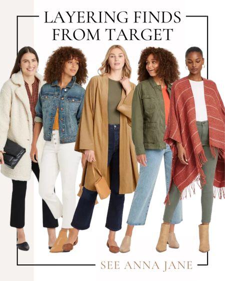 Layering Finds From Target 🍂  #targetstyle #targetfinds #targetfashion #targetoutfits #targetjacket #fallfashion #fallstyle #denimjacket #anorakjacket #teddycoat #affordablefashion  #LTKstyletip #LTKSeasonal #LTKunder50