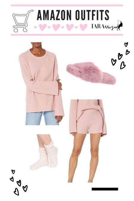 New Amazon the Drop pink ribbed loungewear pieces to snag!  http://liketk.it/37oDd  #liketkit @liketoknow.it #LTKhome #LTKunder100 #LTKunder50 #loungewear