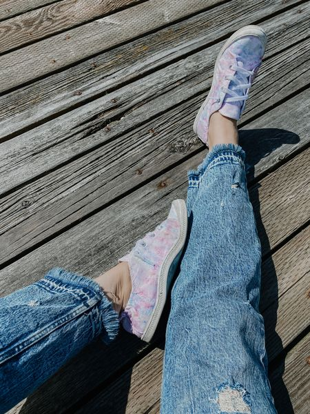 These tie dye shoes are such a cute Walmart find and pair so well with these mom jeans from Abercrombie. http://liketk.it/3h3xE #liketkit #LTKsalealert #LTKshoecrush #LTKunder50 @liketoknow.it Follow me on the LIKEtoKNOW.it shopping app to get the product details for this look and others