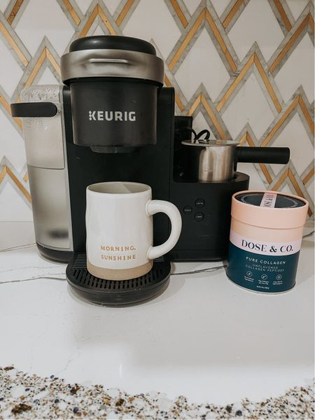 Morning cup of coffee with my keurig and fall mug. Never miss a scoop of collagen in the morning   #LTKfit #LTKbeauty #LTKhome