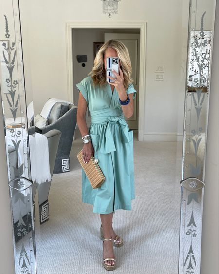 Sale alert! 50% off ending 7/21! This Paulette wrap dress is a must have. The cotton/sateen fabric give it a gorgeous sheen look and the fit is just perfect! TTS http://liketk.it/3kfVg #liketkit @liketoknow.it #LTKsalealert #LTKshoecrush #LTKstyletip