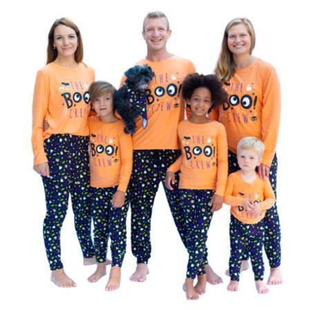 Halloween pajamas. Family pajamas. Kids pajamas. Trick or treat. Boo.  #LTKkids #LTKfamily #LTKSeasonal