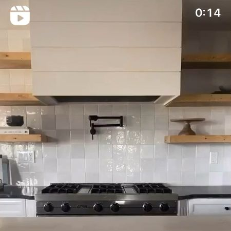Kitchen Floating Shelf Styling and Decor by Peggy Haddad Interiors Modern Farmhouse kitchen with McGee and Co decor + Studio McGee for Target + Hearth and Hand by Magnolia  #StayHomeWithLTK #LTKhome