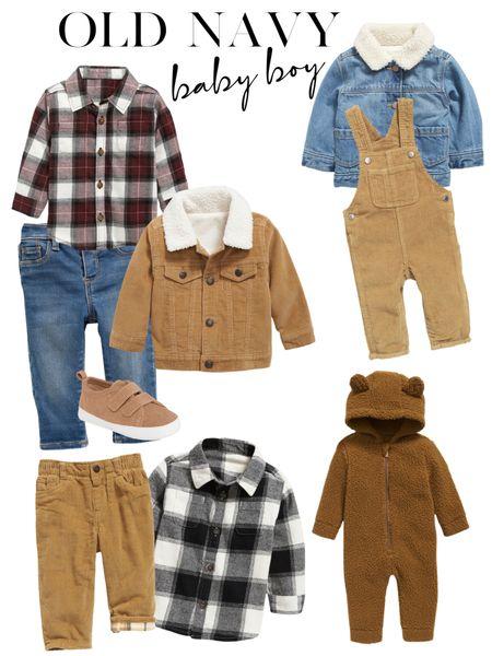 Baby Boy fall outfits Baby boy fall  Old Navy fall finds Old Navy fall outfits  Baby flannels  Baby denim  Baby bear Sherpa    #LTKbaby #LTKSeasonal #LTKfamily