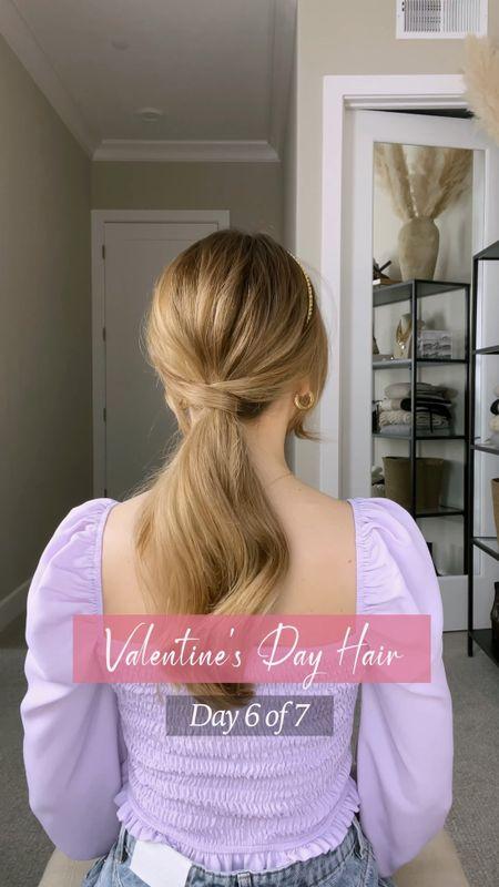 Romantic hairstyle and ponytail hack!   #LTKVDay #LTKunder50 #LTKunder100