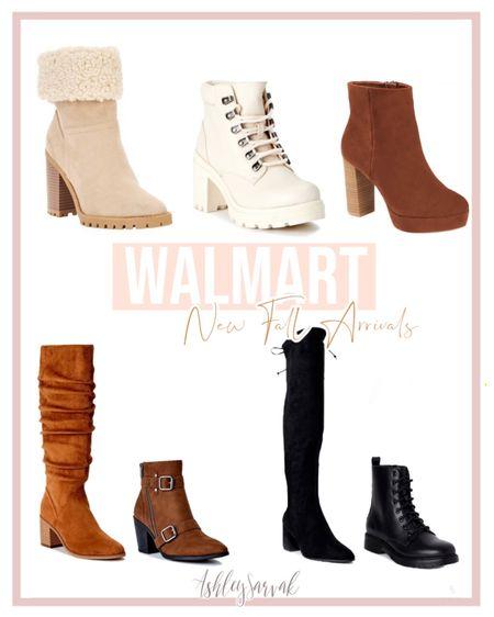 New Fall Boots From Walmart  #fallfashion #fallboots #walmartfashion  #LTKshoecrush #LTKbacktoschool #LTKSeasonal