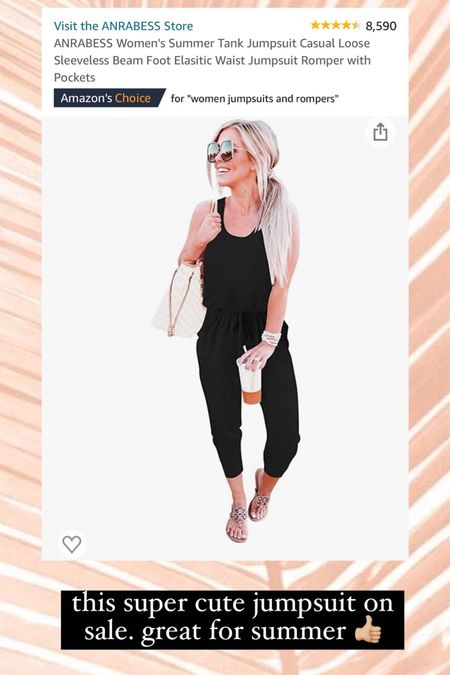 Amazon prime day deals! This jumpsuit is on sale only today. Perfect for summer   #LTKsalealert #LTKunder50 #LTKSeasonal