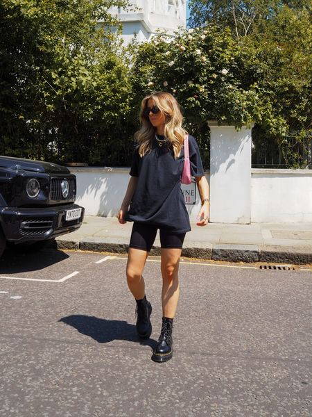 I love this oversized zodiac tee teamed with a pair of cycling shorts And chunky dr martens      #LTKSeasonal #LTKeurope
