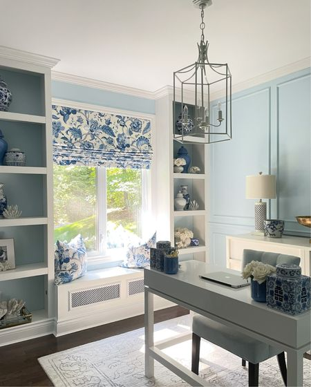 Home office goals in blue and white! Stick to a simple color palette for a chic look that's also serene!  #LTKhome #LTKstyletip