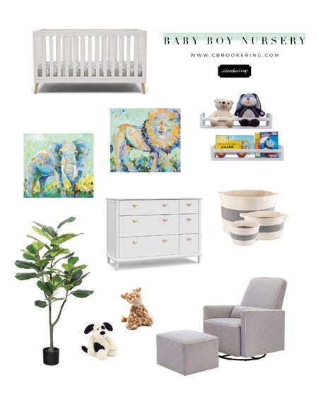 Designing a baby boy's nursery? We've got you covered!! Everything you need to make your sweet baby boy's room come together! These adorable animal prints can be found on www.cbrookering.com http://liketk.it/3gL22 #liketkit @liketoknow.it