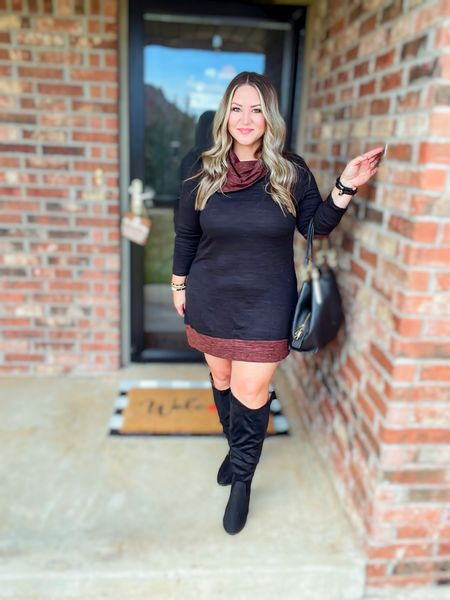Tunic size xl tts Boots tts (wide calf with room!)   #LTKstyletip #LTKcurves #LTKunder50