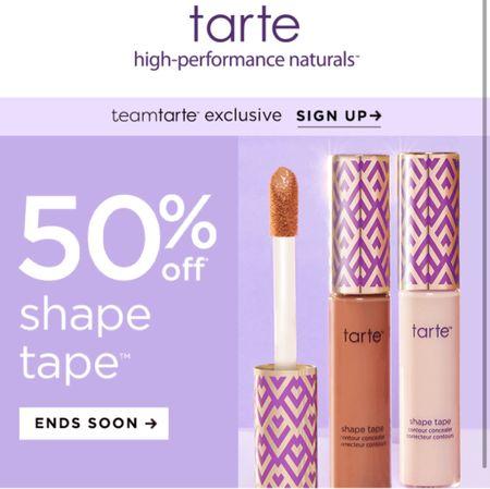 Tarte cosmetics shape tape concealer sale   #LTKsalealert #LTKunder50 #LTKbeauty