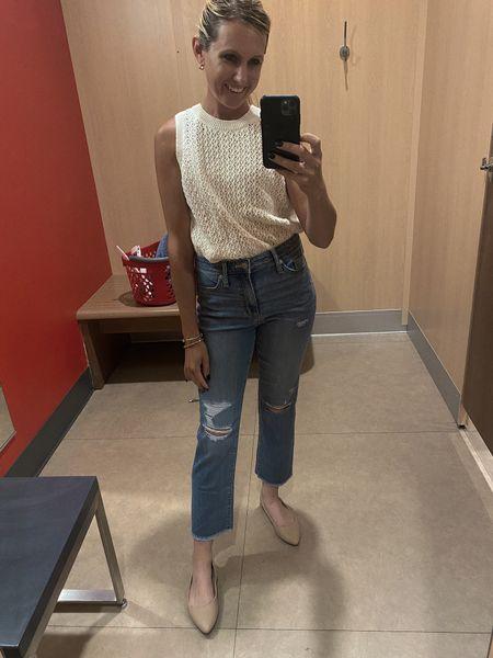 Buy these! Im obsessed. TTS, wearing size 4 here will probably order a 2. Straight legged medium wash by universal thread here are your Agolde dupe jeans. Most flattering jeans   #LTKstyletip #LTKunder50 #LTKSeasonal  #LTKcurves #LTKsalealert #LTKSeasonal