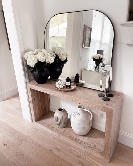 Console table, console table accessories, simple home decor, StylinAylinHome  Follow my shop on the @shop.LTK app to shop this post and get my exclusive app-only content!  #liketkit #LTKhome #LTKunder100