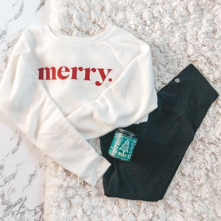 """My """"uniform"""" for the next month: 🎄 cute Christmas sweaters 🎄 comfy leggings 🎄 yummy scented candles    #LTKstyletip #LTKsalealert #LTKunder100"""