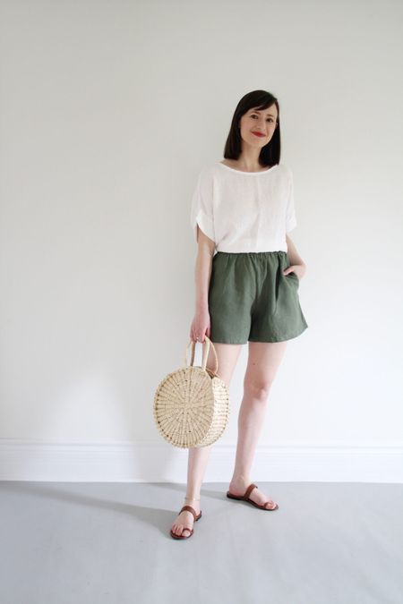Style Theme - Shorts - Look 5  Top old Shorts - Sotela - Size 1 Sandals - Jenni Kayne - TTS - Use LEE15 for 15% Off anytime  Bag - Artisan & Fox