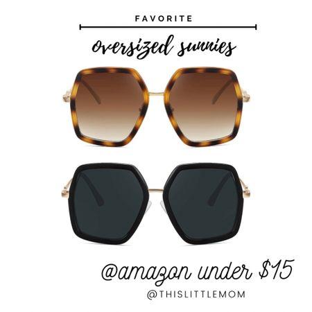 Favorite oversized sunnies on @amazon under $15! #amazon #sunglasses #summer http://liketk.it/3g0Lt #liketkit @liketoknow.it #LTKstyletip #LTKtravel #LTKswim
