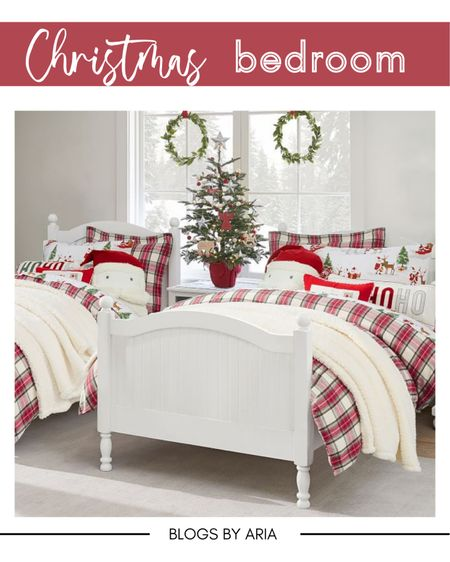 Christmas kids bedding I love to add a special holiday touch to all of our bedrooms for the holidays!!   #LTKkids #LTKHoliday #LTKhome