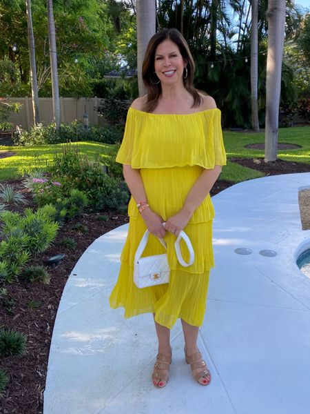 How cute is this bright yellow off the shoulder dress from @amazon? Don't like yellow? It comes in oodles of colors!  Easy to wear, forgiving, easy to pack for travel. Love!  #FloridaBlogger #VacationMode #SheTravel #AffordableStyle #StyleBlogger #FloridaBloggers #Glamma #PoolsideVibes #SouthFlorida #BoyntonBeach #CasualChic #Ageless #Over60andfabulous #StyleOver60  #agelessfashion#ageisjustanumber#womenwithstyle#styleinspo #effortlesschic #styleatanyage    #LTKunder50 #LTKcurves #LTKtravel