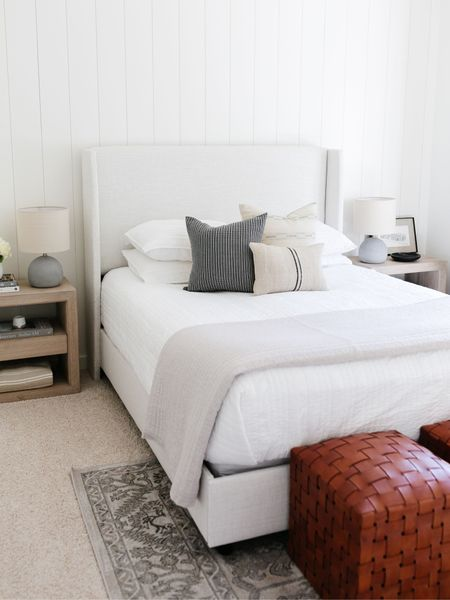 Bedroom decor inspiration!  A lot is on sale this weekend including this upholstered bed, leather ottomans, bedside tables.    You can instantly shop my looks by following me on the LIKEtoKNOW.it shopping app http://liketk.it/3gmdL #liketkit @liketoknow.it @liketoknow.it.home   #LTKsalealert #LTKstyletip #LTKhome