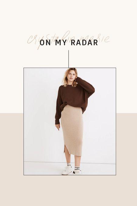Madewell midi sweater skirt- on sale!   #LTKunder100 #LTKsalealert