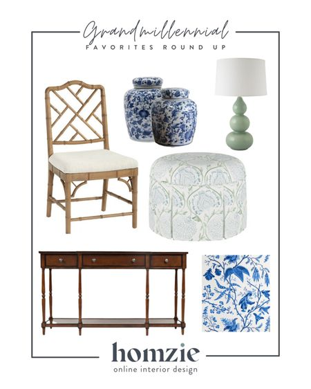 Grandmillenial, bamboo chair, dining chair, bamboo dining chair, ginger jar, chinoiserie jar, traditional console table, grand millennial style, chinoiserie wallpaper, removeable wallpaper, ottoman   #LTKhome #LTKsalealert