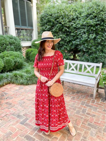 Fabulous red boho dress that will go day to night! Perfect for fall and travel!   #LTKstyletip #LTKunder50 #LTKtravel