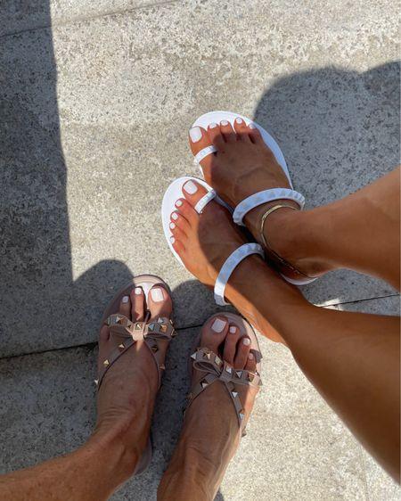 Rockstud sandals size 7 anklet use code doublesose20 http://liketk.it/3hrTy #liketkit @liketoknow.it #LTKunder100 #LTKshoecrush