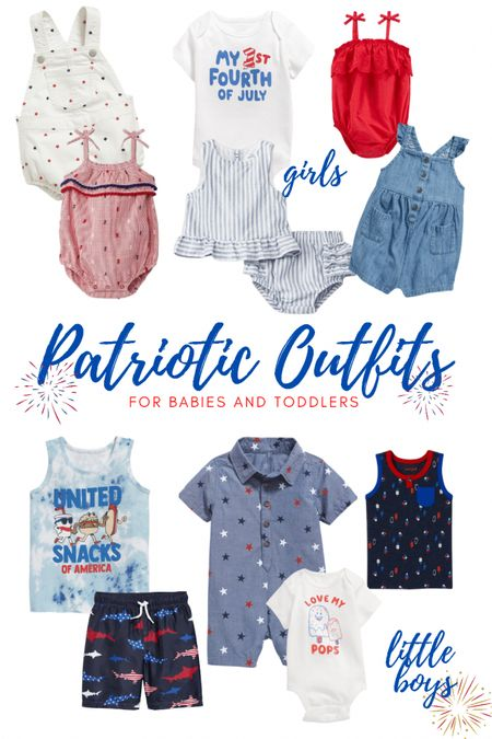 http://liketk.it/3ikoi #liketkit @liketoknow.it  Patriotic outfit ideas for babies and toddlers