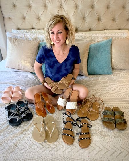 Husband opinions aside: A girl can never have too many shoes! I joined some friends to do a sandal share this week, so check out stories for more... and a change to get some coffee! Yes, shoes AND coffee! It's a HAPPY Friday!  Shop by clicking the link in my profile, or by following me in the LIKEtoKNOW.it app  #LTKshoecrush #LTKstyletip #LTKunder50