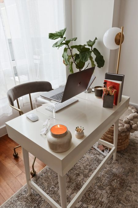 Work from home office set up, acrylic laptop riser From Amazon in size medium   #LTKhome