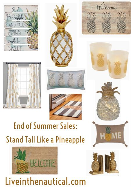 End of summer sales: A pineapple is a symbol of  friendship as well as strength. It is often found in the South and makes the best decor.   These finds are all on sale.  #endofsummersale  #pineappledecor  #LTKhome #LTKsalealert #LTKSeasonal