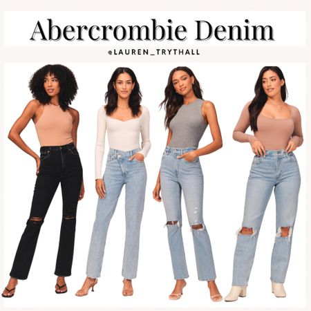 the best denim is from abercrombie! i love these jeans for fall outfits   #LTKstyletip #LTKunder100 #LTKSeasonal