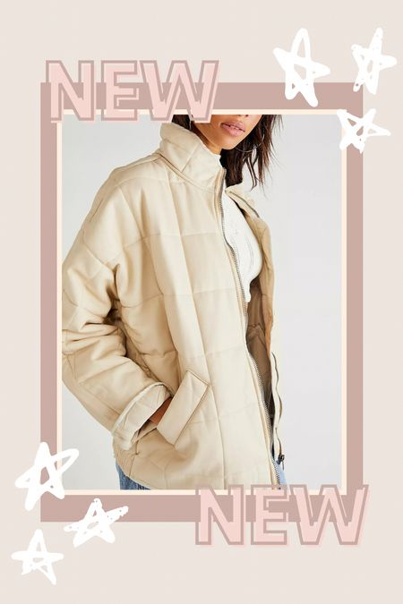 Free People dolman quilted jacket now available in vegan leather!  #LTKSeasonal #LTKGiftGuide #LTKstyletip