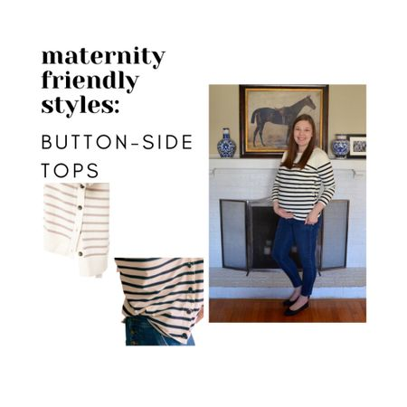 Maternity Style- Side-Button Tops Non-maternity pieces  for during and after pregnancy   #LTKstyletip #LTKunder100 #LTKbump