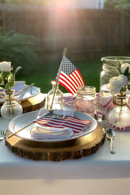 Target 🎯 Finds for the perfect Independence Day Party!!❤️🤍💙   With these entertaining essentials and American Flags❤️🤍💙 you'll be ready for July 4th & your summer barbecues in no time! 🙌  Wood Slice Charger paired with the white florals and Glass Pitcher create a beautiful tablescape! 🥰   #July4th #summerbbq #summerpicnic #PatrioticDecor #Redwhiteandblue    Follow me on the LIKEtoKNOW.it shopping app to get the details for these items and other great finds!     http://liketk.it/3hYKs     #liketkit   @liketoknow.it.home @liketoknow.it.family @liketoknow.it  #LTKunder50 #LTKhome #LTKstyletip