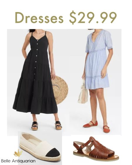 Oh, hey, Target! Cute dresses!   Follow me on LIKEtoKNOW.it for more deals and dupes! @BelleAntiquarian     #LTKshoecrush #LTKworkwear #LTKunder50
