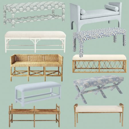 End of bed bench options!   #LTKhome